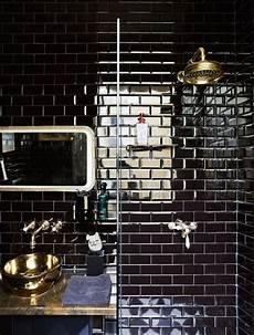 black bathroom tile ideas 30 timeless and chic glossy tile decor ideas digsdigs