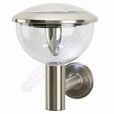 3 led stainless steel solar powered light wall mounted mountable outdoor lantern ebay