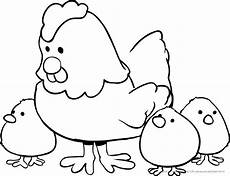 Malvorlage Huhn Ostern Ausmalbilder V 246 Gel