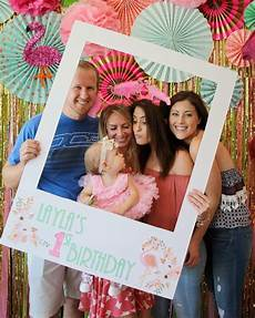 flamingo first birthday backdrop party photobooth