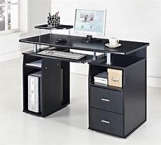 schreibtisch schwarz glas fantastische glas computer schreibtisch mit schubladen