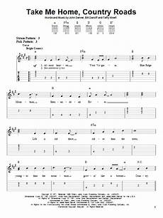 easy country guitar songs take me home country roads by denver easy guitar tab guitar instructor