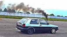 Vw Golf Mk2 Turbo Diesel Drag Race
