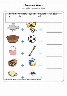compound word iwb resource and worksheet for ks1 year one teaching resources