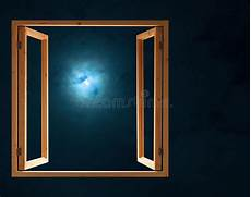 Window Open Half Moon Light Stock Image Image