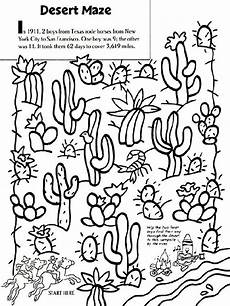 animals in the desert coloring pages 17026 roxaboxen desert maze coloring page fiar volume 4 coloring maze and the two