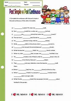 past simple past continuous elementary worksheet ii