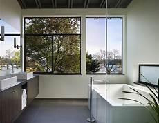 Drywall Bathroom Window by Lake Washington Residence Modern Bathroom Seattle