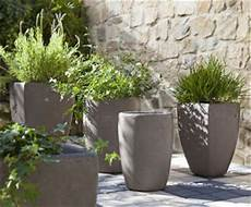 pot de fleur en beton pour jardin container garden tips and ideas
