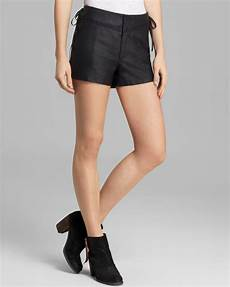 High Waist Faux Leather free shorts faux leather high waist in black lyst