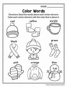 winter math and literacy centre kindergarten winter vocabulary worksheets and activities