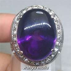 Batu Akik Kecubung Ungu Amethys batu cincin kecubung ungu amethyst asli kode 1151