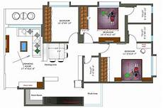 using autocad to draw house plans 2d cad drawing 2bhk house plan with furniture layout