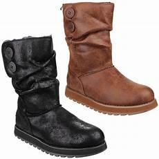 skechers keepsakes esque womens mid calf memory foam boots