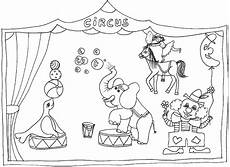 Malvorlagen Zirkus Circus Animals Coloring Pages