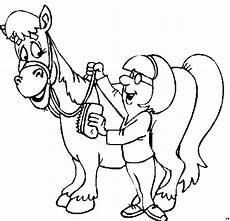 maedchen mit pferd ausmalbild malvorlage kinder
