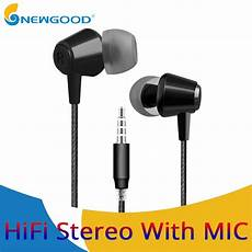 Augienb Wired Earphone Stereo Bass by 3 5mm Stereo Bass Wired Earphone In Ear Earphones With Mic