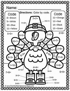 color by number thanksgiving coloring pages 18152 thanksgiving color by number addition actividades de matematicas actividades para preescolar