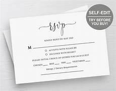 rsvp card template wedding rsvp cards response cards rsvp