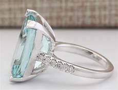large jewelry 925 silver aquamarine gemstone wedding