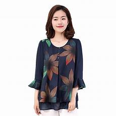 womens blue blouse plus size 2018 summer butterfly sleeve navy blue blouse print