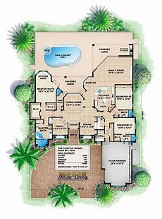 mediterranean house plans with pools mediterranean house plan 1 story mediterranean floor plan