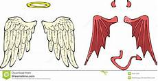 wings stock vector illustration of heaven hell