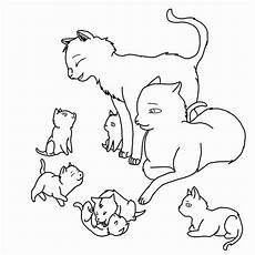 cat family lineart outlined by rjtheawesome on deviantart
