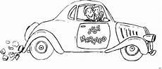 just married auto ausmalbild malvorlage auto