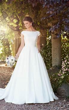 Modest Wedding Gowns modest wedding dress with sleeves essense of australia