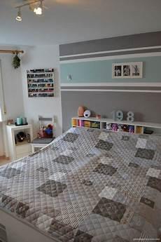 Wandgestaltung Streifen Ideen Bilder - einrichtung schlafzimmer interior design bedroom t 252 rkis
