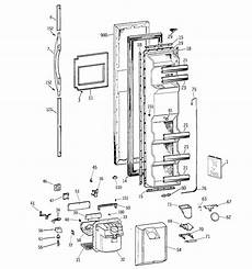 ge upright freezer wire diagram ge tfx25jpccaa side by side refrigerator parts sears parts direct