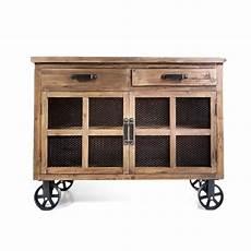 buffet trollet vintage industriel m 233 tal vieux bois avec