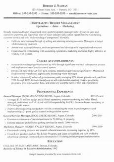 resume for folks in the hospitality industry hospitality