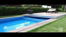 automatische schwimmbad abdeckung pool terrassendeck