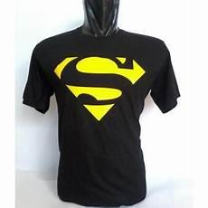 kaos distro dc logo kaos distro oblong hitam d0005y logo superman lazada indonesia
