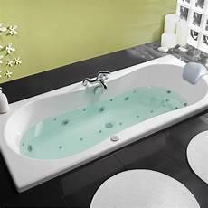 baignoire balneo baignoire baln 233 o rectangulaire l 180x l 80 cm allibert