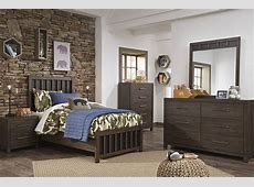 Ashley Furniture Brissley Brown 2pc Kids Bedroom Set With