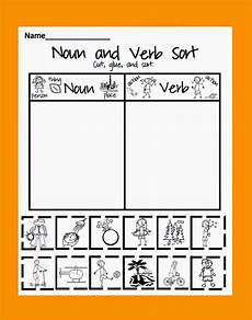 nouns and verbs sorting worksheets