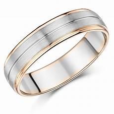 9ct rose gold wedding rings 6mm men s palladium and 9ct rose gold wedding ring 9ct 2 colour gold at elma uk jewellery