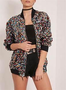 wholesale brand new stylish sequins bomber jacket multi color shiny bling bling sequin jacket