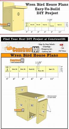 wren house plans wren houses plans in 2020 bird house plans wren house