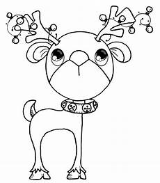 reindeer coloring pages digital sts digital sts