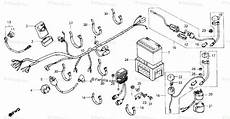 87 honda atv 250 wiring schematic honda atv 1986 oem parts diagram for wire harness battery partzilla