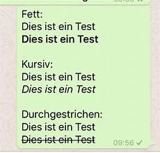 Whatsapp Fett Kursiv Durchgestrichen Schreiben