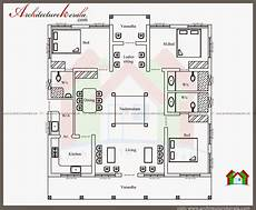 single floor 4 bedroom house plans kerala typical kerala nalukettu type home plan in 2000 sq ft with