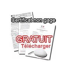 certificat de non gage immediat certificat de situation