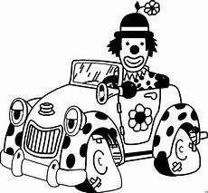 Comic Autos Malvorlagen Clown Im Auto Ausmalbild Malvorlage Auto