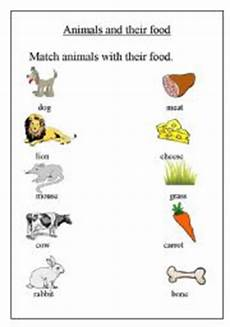 worksheets with animals and their food 14086 animals and their food esl worksheet by step2eternity