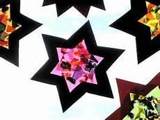 Fensterstern Aus Transparentpapier Weihnachten Basteln